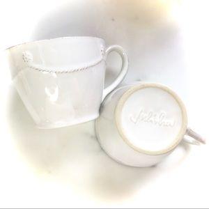Juliska Berry & Thread set of 2 Tea Cups Mugs